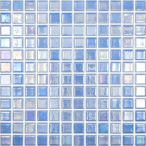 Shell Azure glasmozaïek 25X25MM tegels