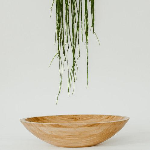 Bamboe waskom 60x40x15 cm. ovaal