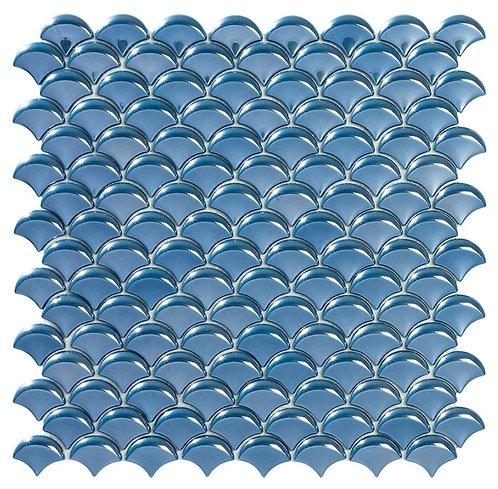 Dimension Dark Blue Br visschub glasmozaïek 36X29MM tegels
