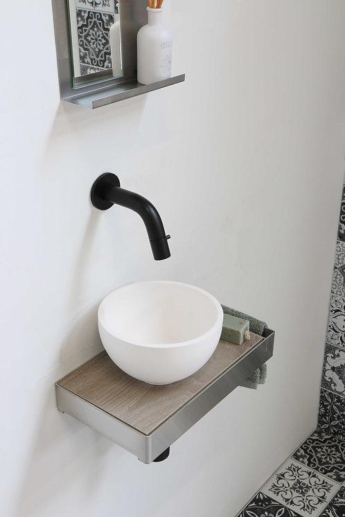 INK fontein jazz xs mat wit met inlegplateau in kleur greige