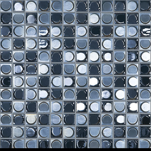 Aura Night Blend glasmozaïek 25X25MM tegels
