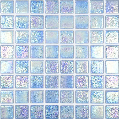 Shell Azure glasmozaïek 38X38MM tegels