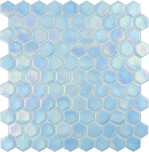 Shell Air hexagon glasmozaïek 35X35MM tegels