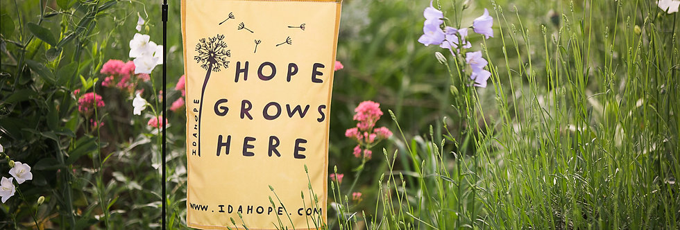 Hope Grows Here Garden Flag