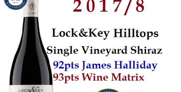 2018 'Lock & Key Shiraz Single Vineyard