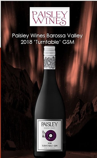 2018 Paisley 'Turntable' GSM Barossa Valley