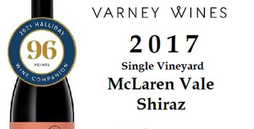 2017 Varney Wines Shiraz McLaren Vale