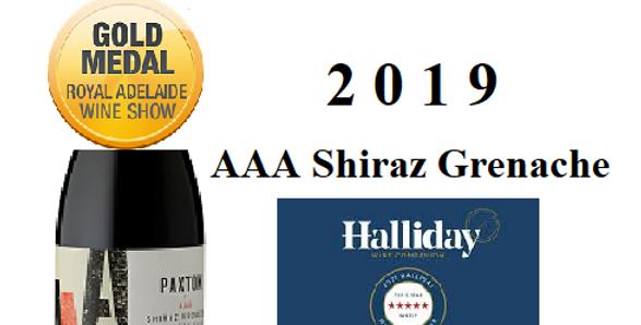 Paxton Wines 2019'AAA' Grenache Shiraz