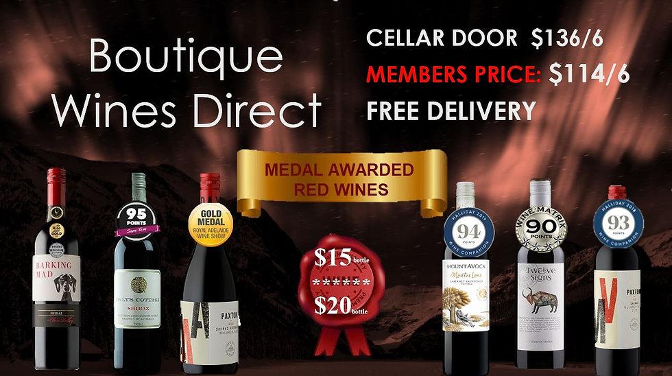 Red Wine 6pk $15-$20 bottle