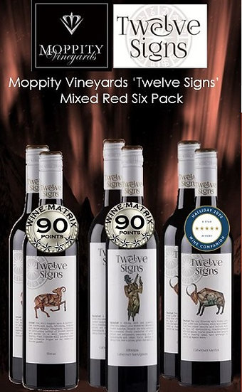 Moppity 'Twelve Signs' Mixed Reds