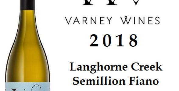 2018 Varney Wines Semillon Fiano