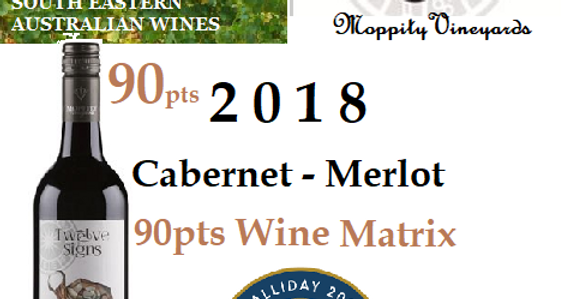 2018 Moppity Vineyards 'Twelve Signs' Cabernet / Merlot