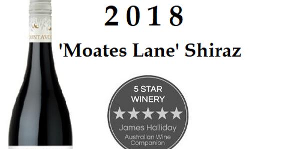 "2018 Mt Avoca ""Moates Lane  Shiraz"