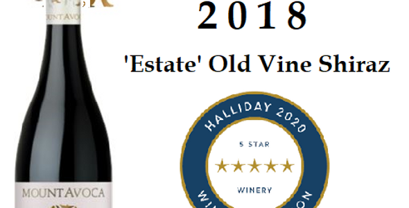 2018 Mt Avoca 'Estate  Old Vine Shiraz' Pyrenees Victoria