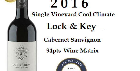 2016 'Lock & Key Cabernet Single Vineyard
