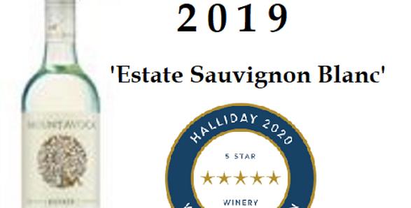 2019  Mt Avoca 'Estate 'Sauvignon Blanc Pyrenees Victoria