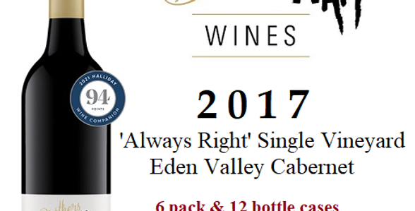 2017 I'm Always Right Cabernet