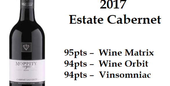 ' 2017 Moppity Estate  Cabernet Sauvignon