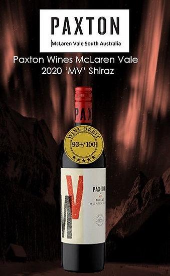 2020 Paxton'MV' Shiraz McLaren Vale