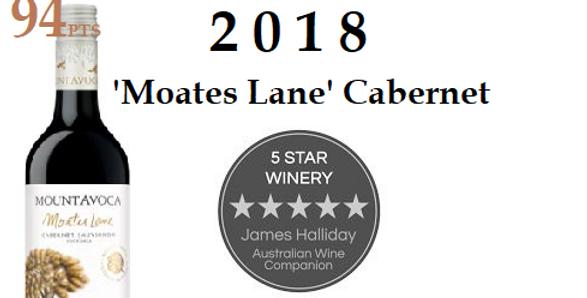 2018 Mt Avoca 'Moates Lane  Cabernet Sauvignon