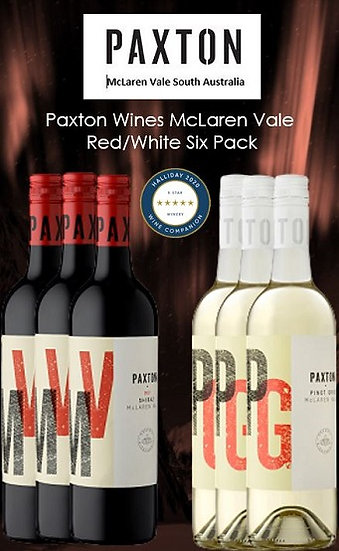 Paxton Wines Red/White 6 pack