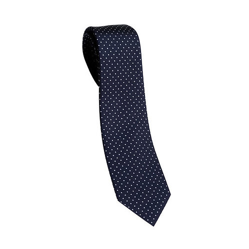 Slips siden mönstrad - marinblå med vita prickar