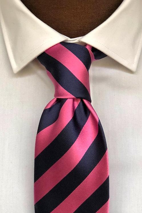 Slips siden mönstrad - rosa/marin randig