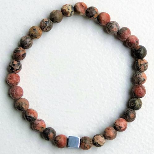 Armband beads - rosa melerad