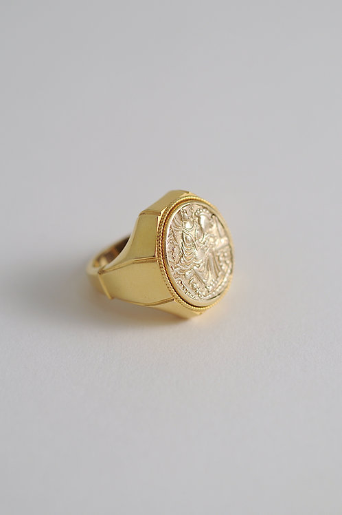 RING WITH KUSHAN COIN