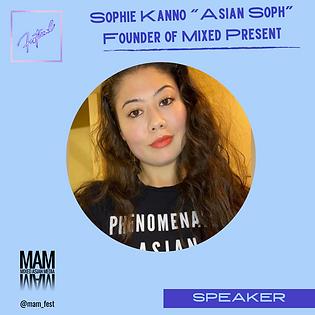 """Sophie Kanno """"Asian Soph - Speaker.png"""