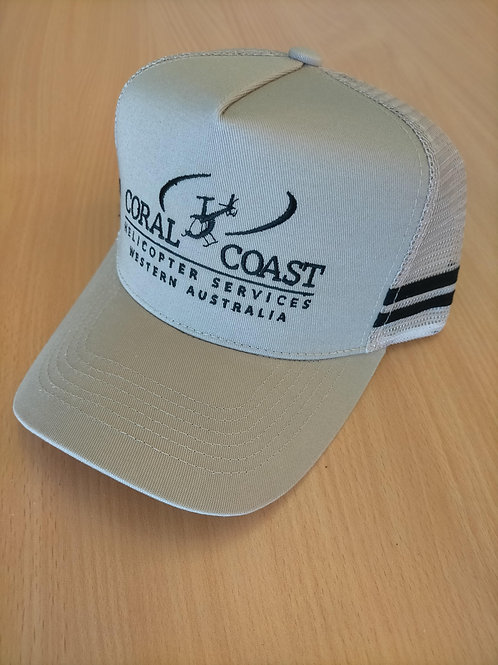 Coral Coast Helicopters Premium Country Trucker Cap - Brown