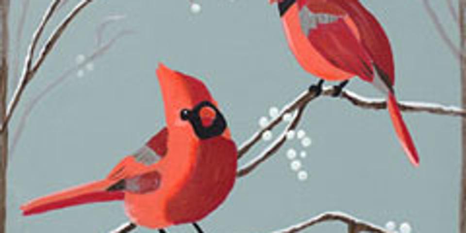 Cardinals & Berries