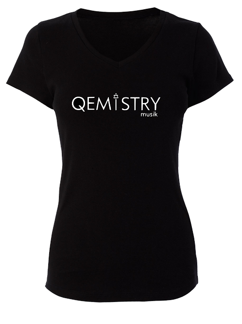 Black Qemistry T-shirt (ladies cut)
