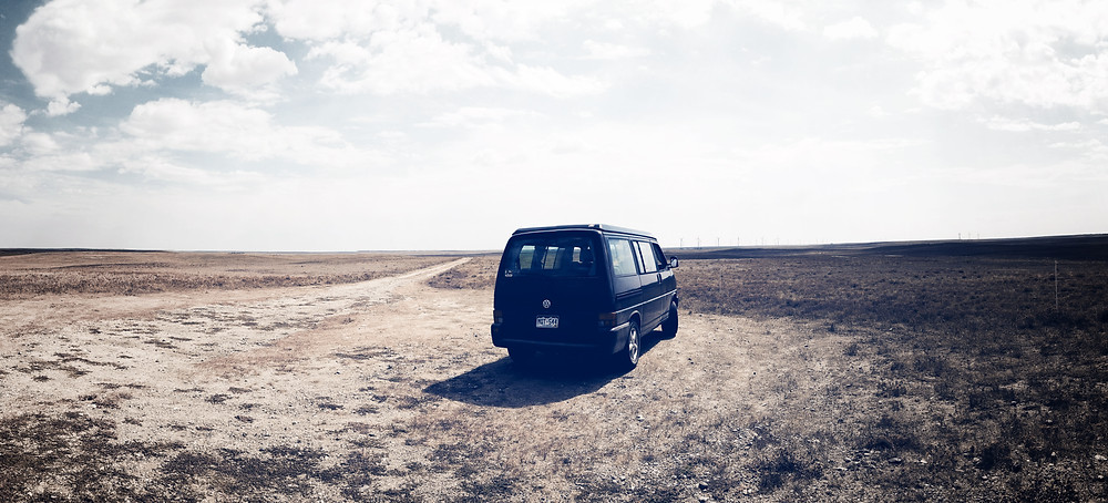 Van at Panorama Point, Nebraska