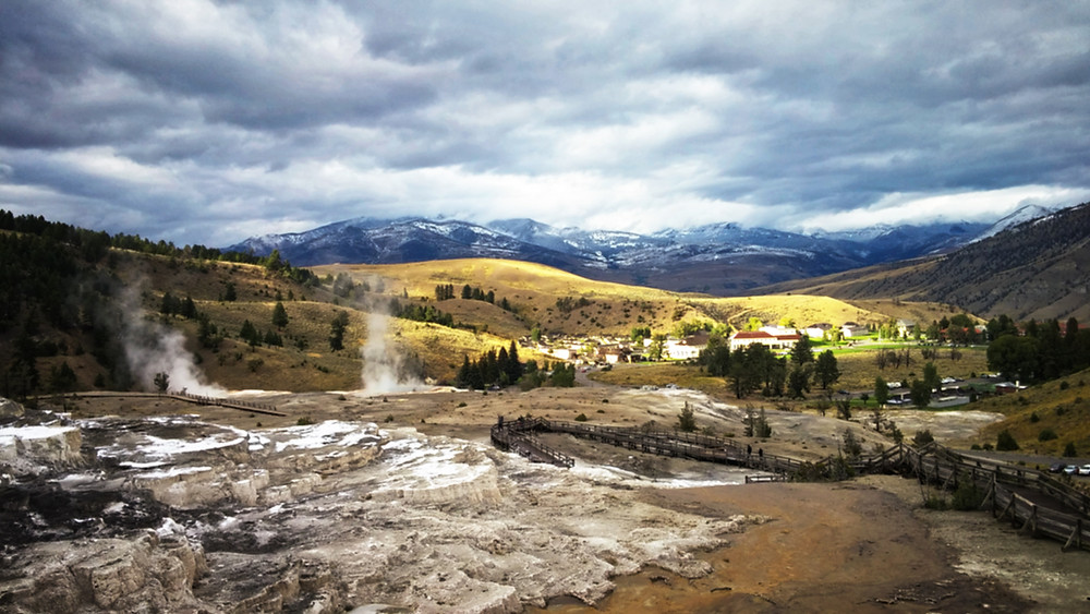 Minerva Terraces, Mammoth Hot Springs, Yellowstone National Park, Wyoming