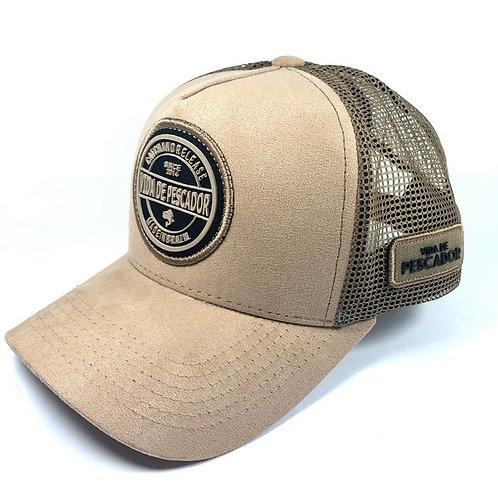 Boné Vida de Pescador Premium Creme