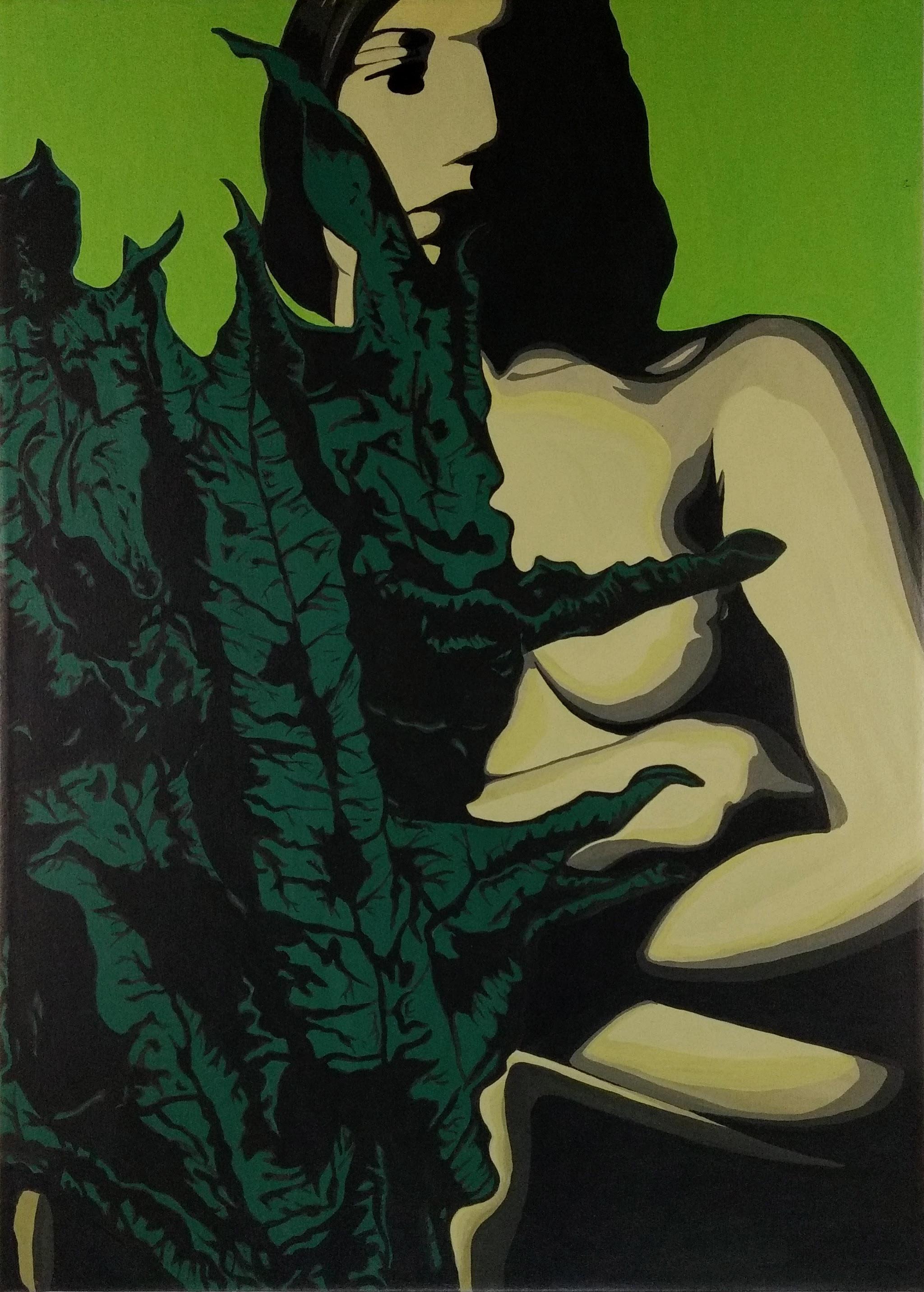 Leaf woman