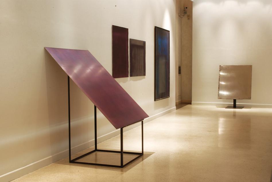 La seconda sala_Lastra di alluminio inchiostrato