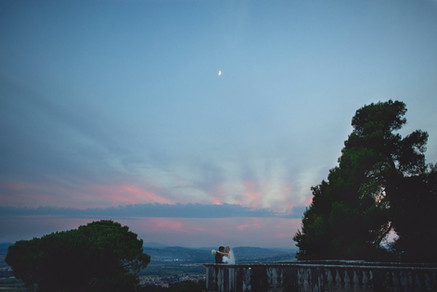 Sunset on the Della Rovere viewpoint