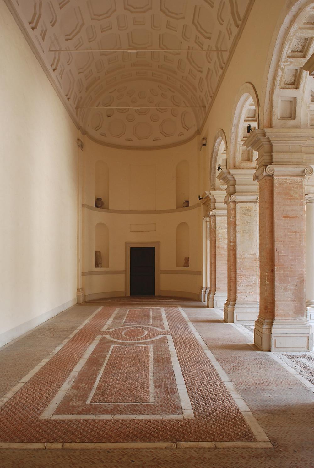 Villa Imperiale Pesaro, la sala dei banchetti dell'ala roveresca