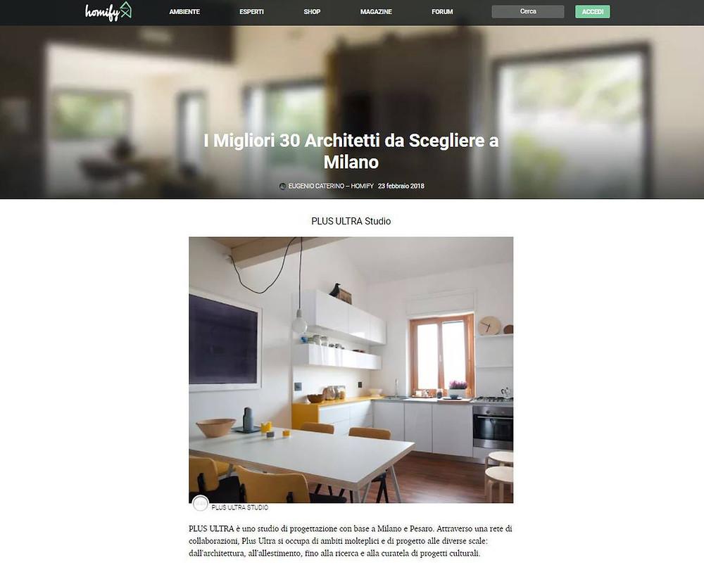 Homify, Plus Ultra Studio tra i 30 architetti da scegliere a Milano