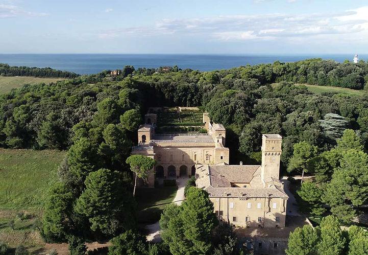 Villa Imperiale Pesaro, vista aerea.