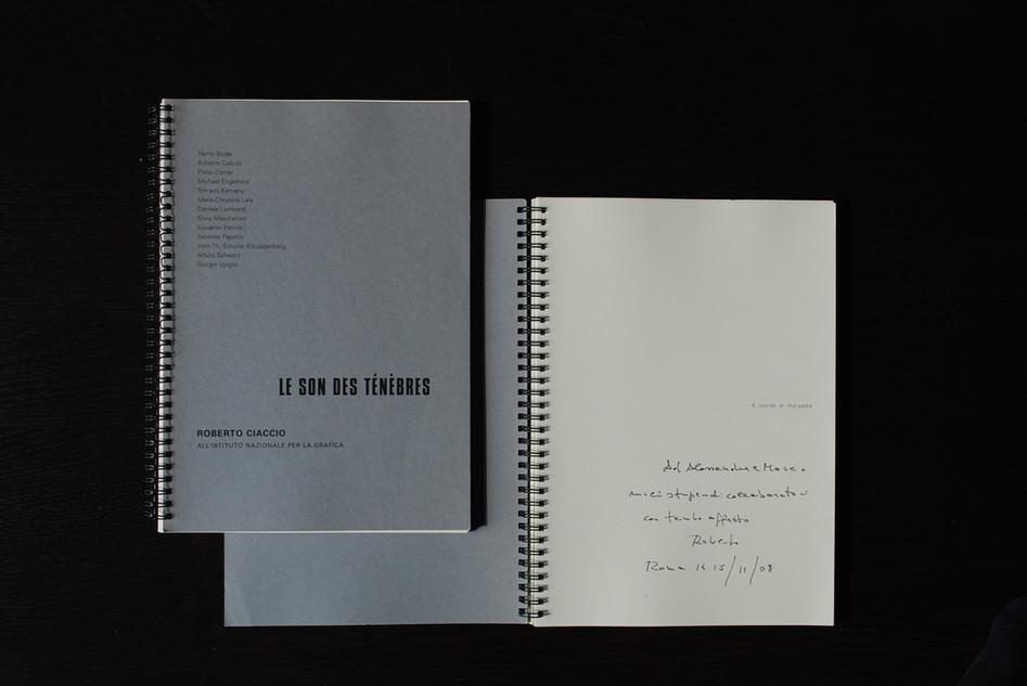 Il cahier con i testi critici