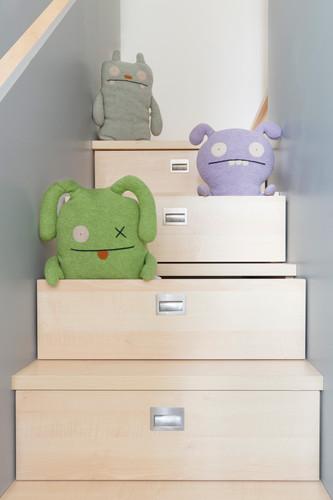 la scala-contenitore per il letto soppalcato