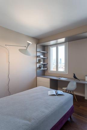 Camera da letto con arredo su misura