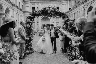 The Della Rovere court set up for the cerimony