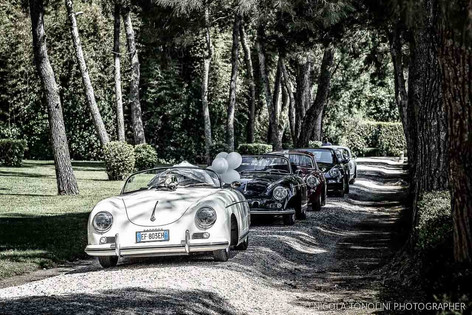 Arrival at the Villa Imperiale pinewood