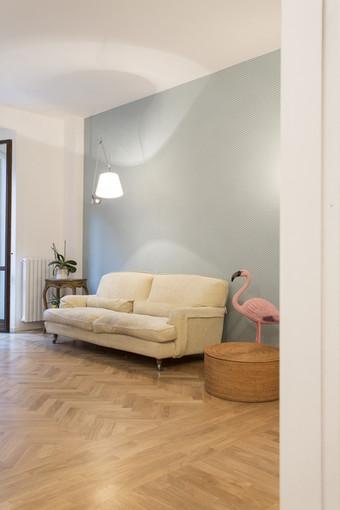 il pavimento del soggiorno
