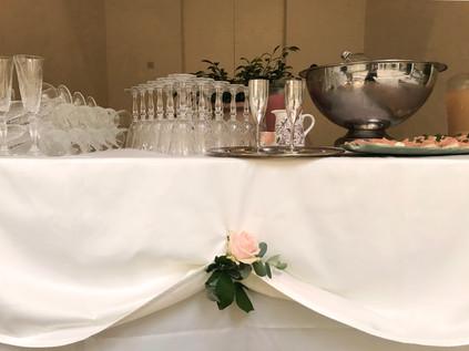 Appetizer buffet in the Sforza court