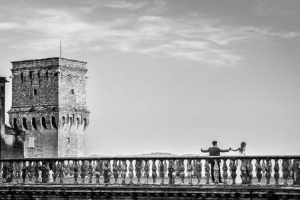 Promenade on the Della Rovere terrace...